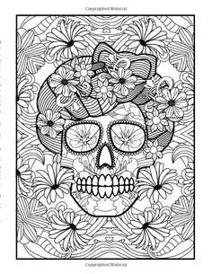 Coloring Books for Grown-Ups Day of the Dead Girls: Dia De Los Muertos Coloring Pages (Sugar Skull Art Coloring Books for Adults) (Day of the Dead Coloring Books) (Volume Coloring Pages For Grown Ups, Free Adult Coloring, Adult Coloring Book Pages, Printable Adult Coloring Pages, Coloring Books, Skull Coloring Pages, Cute Coloring Pages, Animal Coloring Pages, Coloring Pages To Print