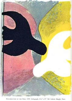 Georges Braque (1882 - 1963) | Expressionism | Resurrection of the Bird - 1959