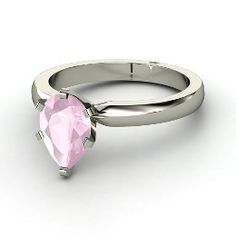 Pear Solitaire Ring~adorable