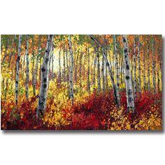 Aspen Paintings, Birch Tree Art, Contemporary Landscapes by Jennifer Vranes