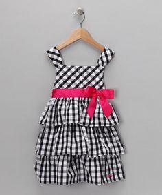 Black & White Gingham Bow Dress - Infant & Toddler