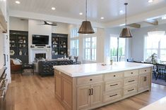 Modern Farmhouse Open Kitchen and Living Room