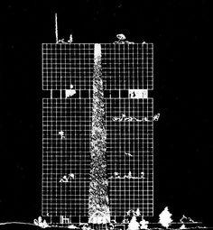Иван Леонидов  Проект Дома промышленности. 1930 г
