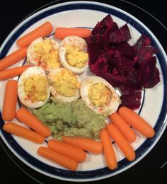 Colorful Nutrition! Savor ing the flavors, enjoying the health benefits, as my eyes delight in the colors! #colorfulnutrition #healthy #nutritious #beets #carrots #guacamole #avocado #eggs #vegetables #organic #protein #vegan #whole9 #whole30 #energy #health #fitness #photo