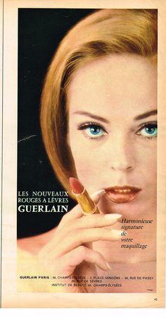 Publicite 1966 Guerlain Cosmétiques DES Lèvres   eBay