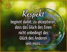 Respekt beginnt damit ....