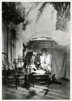 """KM pictured with JMM at Villa Isola Bella: """"A new Katherine Mansfield mystery stops the press"""",The Independent. """"New Mystery"""" has nothing to do with JMM."""