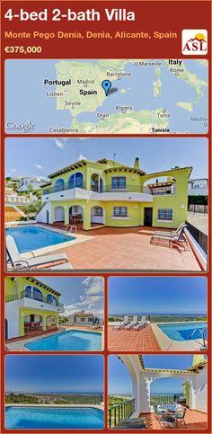 4-bed 2-bath Villa in Monte Pego Denia, Denia, Alicante, Spain ►€375,000 #PropertyForSaleInSpain