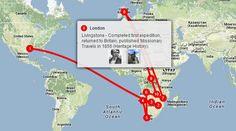Livingstone's Travels Interactive Map via @tripline