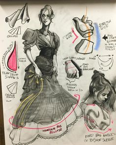 Lecture notes #charcoaldrawing #charcoal #drawing #costumedrawing #dressdesign by georgedrawing