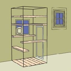 Cat enclosure, catio. #cats #catio #cadioideas