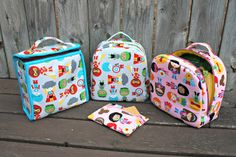 Sew Sweetness - how fun!  Sew your own lunch box and snack bags!