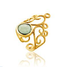 Δαχτυλίδι Ηandmade Ιris Silver Collection από επιχρυσωμένο ασήμι 925 με οπάλιο