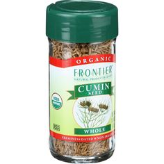 Frontier Herb Cumin Seed - Organic - Whole - 1.68 oz - One of the worlds most popular spices, cumin is extremely aromatic, with a warm, spicy, slightly bitter, earthy flavor. Cumin seeds are enjoyed around the world but especially in North African, Middle Eastern, Indian and Mexican cuisines. Botanical Name: Cuminum cyminum L.Product Notes: Whole, organic cumin seed, especially relied upon in Mexican, Asian and Indian cooking. Whole seeds are also used in German cakes and breads, pickling…