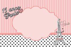 Paris 15 Anos - Kit Completo com molduras para convites, rótulos para guloseimas, lembrancinhas e imagens!
