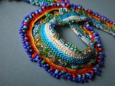 Camassia Quamash ... Freeform Crochet Necklace | irregular expressions | Flickr