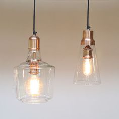 Copper And Glass Pendant Lights - pendant lights