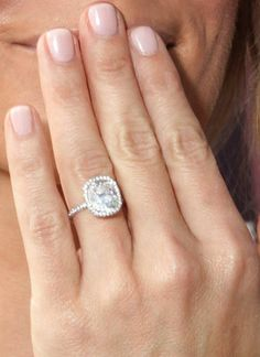 This cushion cut with thin band/halo is everything!!!!
