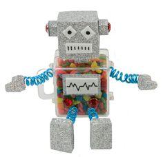 Regalo para niños / Fiestas infantiles / Dulceros / Dulces / Robot / Día del niño