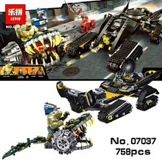 42.68$  Buy now - http://ali8l0.worldwells.pw/go.php?t=32741516427 - LEPIN 768PCS Super Heroes DC Batman Tumbler Killer Croc Sewer Smash Building Blocks figures Avengers Compatible kid 76055