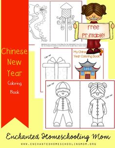 Come have fun learning about the Chinese New Year with a fun Chinese New Year Coloring Book!