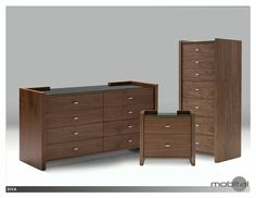 Double Dresser Diva Natural Walnut-black Glass Top Walnut Veneer on HDF Tempered Glass Top Brushed Aluminum Hardware Weight : 112 Kgs Assembly Required : No Dimension - Width : 63 In Depth : 20 In Height : 33 In
