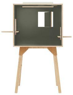 Bureau Koloro / L 73 cm Vert foncé / Bois clair - Ichiro - Décoration et mobilier design avec Made in Design