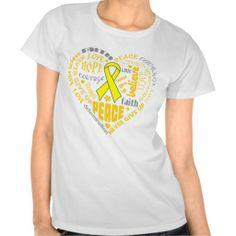Spina Bifida Awareness Heart Words T-shirts by www.giftsforawareness.com #spinabifida #giftsforawareness
