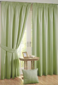 Orion Green Blackout Curtains - choose lighter coloured fabrics