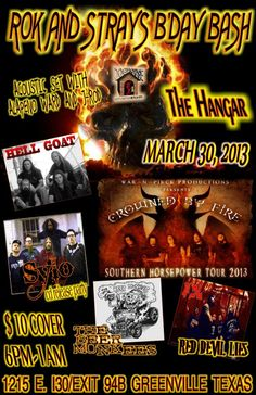 CD release party March 30 @ Hanger Bar! Dont Miss This One!