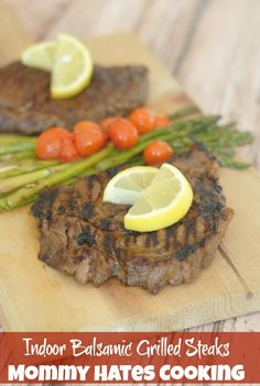 Business Cookware Ought To Be Sturdy And Sensible Indoor Balsamic Grilled Steaks I Mommy Hates Cooking Grilled Steaks, Grilled Steak Recipes, Grilled Meat, Grilling Recipes, Grilling Ideas, Smoked Meat Recipes, Beef Recipes, Cooking Recipes, Easy Cooking