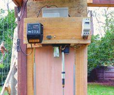 Instructable - how to make an easy automatic chicken coop door opener    itself…