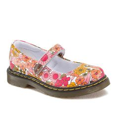 Another great find on #zulily! Pink & White Floral Tully Leather Mary Jane #zulilyfinds