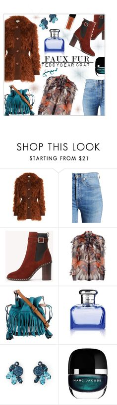 """""""Warm Me Up!!!"""" by jckallan ❤ liked on Polyvore featuring Isa Arfen, RE/DONE, rag & bone, Givenchy, Burberry, Ralph Lauren, Henri Bendel, Marc Jacobs and fuzzycoats"""