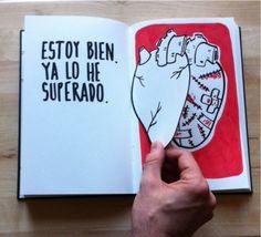 Ilustraciones que demuestran lo triste e intenso que es terminar una relación.