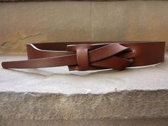 Flat Brown Muse Leather Belt 1.25 inch Nickel-Free/ Vegetable tanned leather. $48.25, via Etsy.