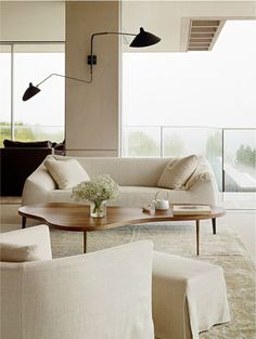 modern living room in neutrals