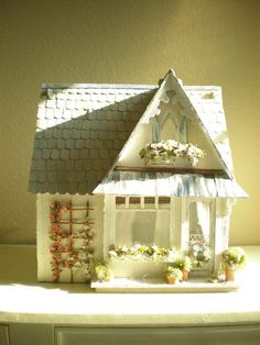 Beach Cottage Custom Dollhouse Shabby Chic Style... I'm so buying one of these for Ava when she gets older!