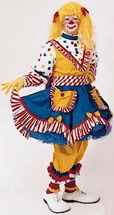 Mooseburger Originals - the company where I purchased my FIRST clown costume from!  'Priscilla' is a RB Clown alumni!
