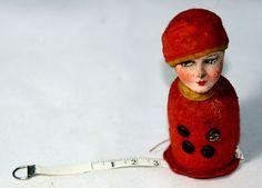 RARE Antique Figural Flapper Women Tape Measure Novelty Measuring Figural | eBay