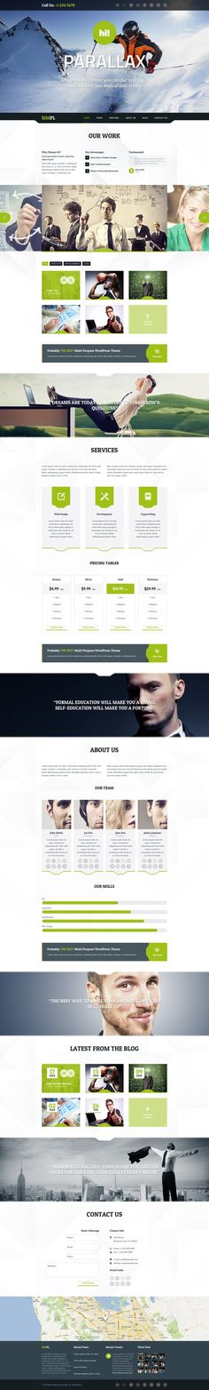 SIMPL clean modern Portfolio and Business Template by checkertobi.deviantart.com on @deviantART | #webdesign #it #web #design #layout #userinterface #website #webdesign < repinned by www.BlickeDeeler.de | Take a look at www.WebsiteDesign-Hamburg.de