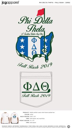 Phi Delta Theta Fall Rush Shirt | Fraternity Fall Rush | Greek Fall Rush #phideltatheta #phidelt #fall #rush #flag #states #golf