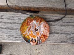 Wood Horse pendent necklace handpainted country boho chic New!  #Handmade #Choker