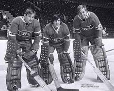 - Montreal goalies Phil Myre (# Rogie Vachon (# and Ken Dryden (# Kings Hockey, Women's Hockey, Hockey Players, Hockey Room, Hockey Cards, Baseball, Montreal Canadiens, Nhl, Ken Dryden