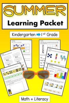 Just 10 minutes a day! Spend a few minutes a day preparing your child for grade 1 with this 10 week learning package. The printable booklet is organized by each day of the week (Monday-Friday) and each day includes one math and one literacy activity. Pages are engaging and organized to help families by keeping it simple. Keep skills sharp and avoid the summer slide! Answers included. Curriculum based. Teacher created. #summerlearningactivities #summerlearningactivitiespreschool