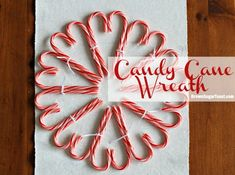 Candy Cane Wreath. so festive!!