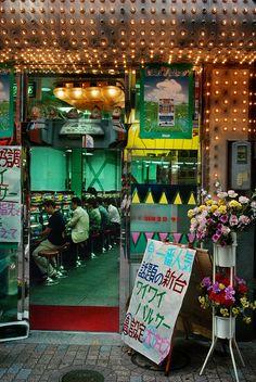 Harry Gruyaert JAPAN. Tokyo. Shibuya. Pachinko parlor. 1996.