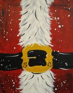Easy Canvas Painting, Heart Painting, Painting On Wood, Painting & Drawing, Body Painting, Santa Paintings, Christmas Paintings On Canvas, Holiday Canvas, Christmas Artwork