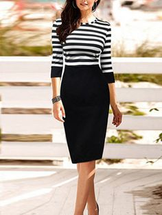 http://www.buytrends.com/Products/striped-tie-waist-three-quarter-sleeve-bicolor-patchwork-a-line-work-dress-34480.html?sign=007_pinterest_CU21712766