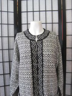 Vintage 1980s Wool Cardigan Sweater by Windfjord from by girlgal6